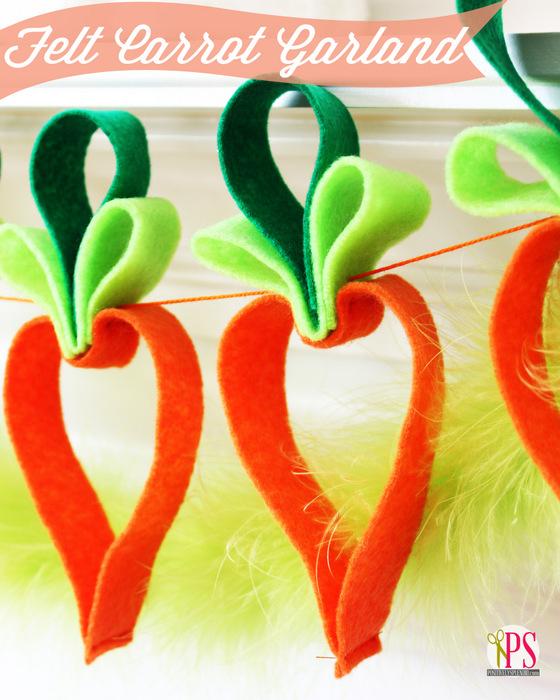 Felt Carrot Garland by PositvelySplendid.com