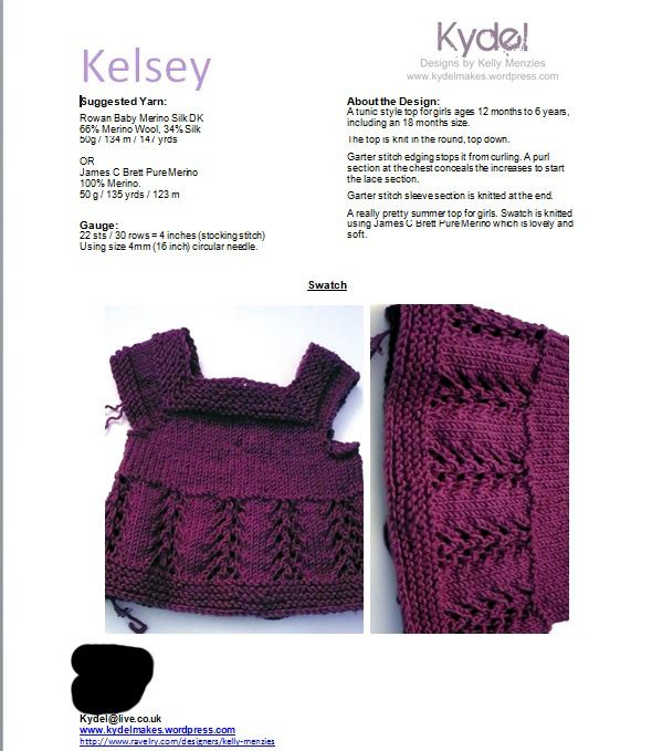 Kelsey Submission Sheet pg1