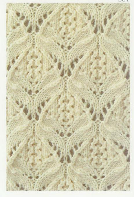 Lace knitting stitch 1